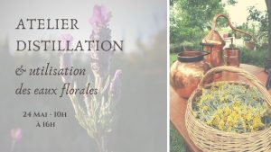 Atelier distillation, eaux florales, hydrolats, Tarn